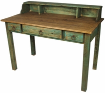 Painted Wood Mennonite Desk with Drawers