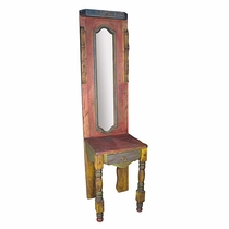 Painted Wood Mirrored Hall Table