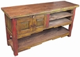 Painted Wood Offset Entertainment Console