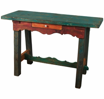 Painted Wood Ranch Style Sofa Table - Ranch style table