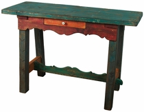 Painted Wood Ranch Style Sofa Table