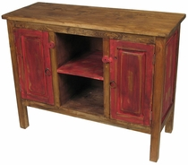 Painted Wood Red Entertainment Console