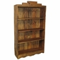 Painted Wood Santa Fe Open Bookcase Natural