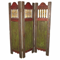 Painted Wood Screen - Room Divider