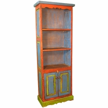 Painted Wood Skinny Shelf Cabinet