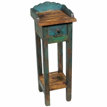 Painted Wood Small Stand with Drawer