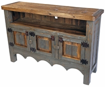 Painted Wood TV Stand Entertainment Credenza
