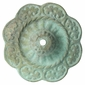 Patina Bronze Flower Rosettes with Bronze Nailheads - 1 Pair
