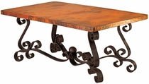 Patricia Copper Top Dining Table