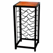 Pedestal Wine Rack with tile top