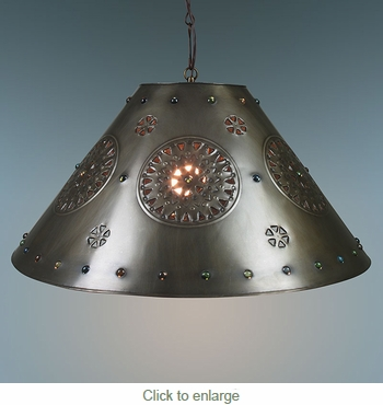 Pendant Light Extra Large Punched Marble Shade