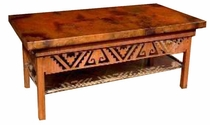 Petroglyph Coffee Table Base -- Rectangular