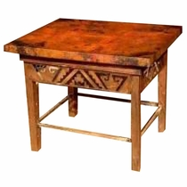 Petroglyph End Table  -  Cobre Antiguo Copper