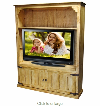 Pine Southwest TV Entertainment Center or Two Shelf Bookcase