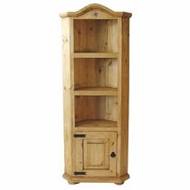 Pine with Tile Corner Bookcase