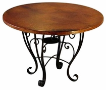 placencia dining table base copper top - Copper Kitchen Table