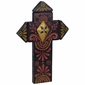 Pointed Dark Painted Wood Cross