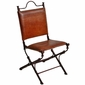 Pony Side Chair with Leather and Iron
