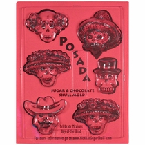 Posada Chocolate Skull Molds - Set of 2