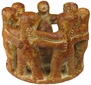 Pre-Columbian Dancers or Circle of Friends Candle Holder