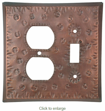 Punched Tin Switch & Outlet Cover - Flower Design