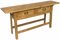 Ranch Console Table 2 Drawer