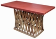 Rectangular Equipale Table with Leather Ties