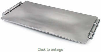 Rectangular Mexican Pewter Tray