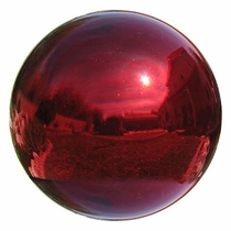 Red Blown Glass Gazing Balls - 4 Sizes