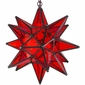 Red Glass Star Light