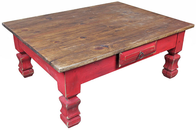 Astounding Red Painted Wood Coffee Table With Drawer Bralicious Painted Fabric Chair Ideas Braliciousco