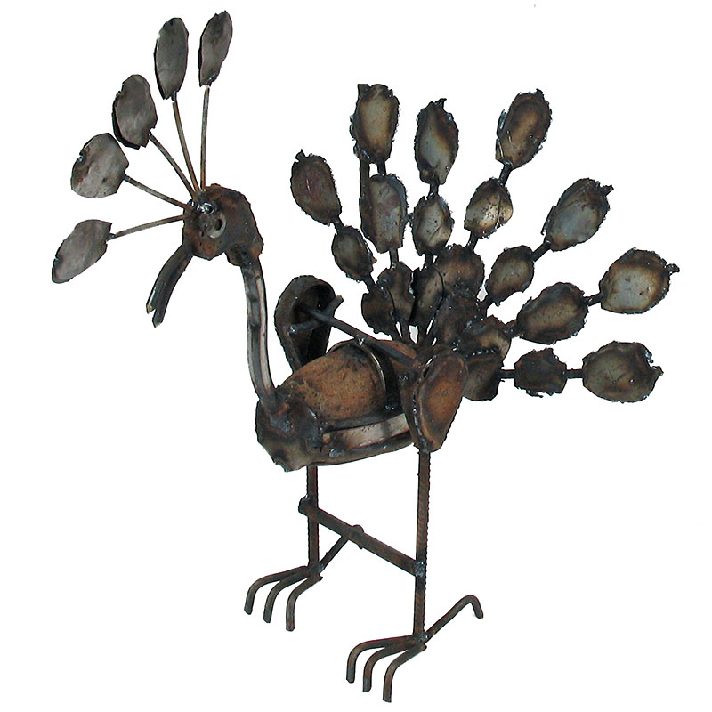Rocking Peacock Metal Garden Art Sculptures