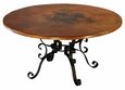 Roman Dining Table Base Copper Top