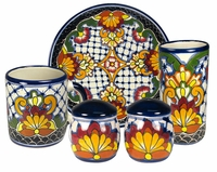 Rosario Pattern Group - Talavera Tableware  sc 1 st  Direct From Mexico & Mexican Talavera Dinnerware Pattern Groups