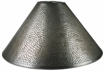 Round Aged Tin Punched Shade