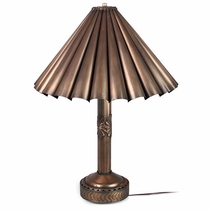 Round Concho Lamp with Tin Scalloped Shade