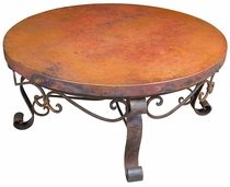 Round Copper & Iron Coffee Table