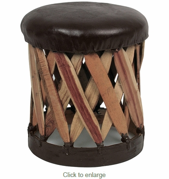 Round Cushioned Footstool