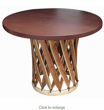 Round Mexican Equipale Table - 47 in Diameter