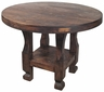 Round Rustic Wood Bistro Table - Counter Height