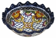 Round Scalloped Talavera Rosario Bowl