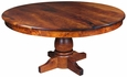 Round Turned Pedestal Mesquite Table