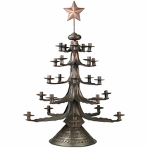 Rustic Aged Tin Christmas Candletrees