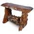 Rustic Free Form Mesquite Sofa Table