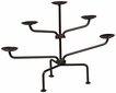 Rustic Iron Candle Holder 5-Tier