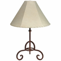 Rustic Iron Loredo Table Lamp