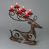 Rustic Iron Reindeer Candle Holder