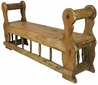 Rustic Mennonite Spindle Bench