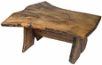 Rustic Mesquite Bookmatched Top Coffee Table