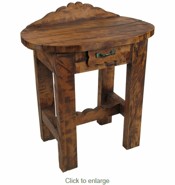 Rustic Mesquite Oval Table